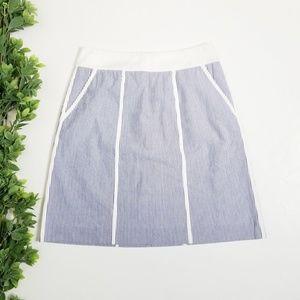 LAFAYETTE 148 Striped Pencil Skirt